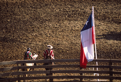 Chilean guachos take a breather during the local rodeo in Futaleufu, Chile.