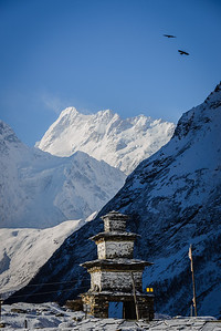 Gateway to Larky Pass, Manaslu trek, Nepal