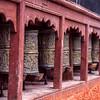 Buddhist prayer wheels, Ladakh, India