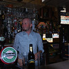 That's me, behind the bar in a traditional Irish pub! Ready to pour my own Guinness!