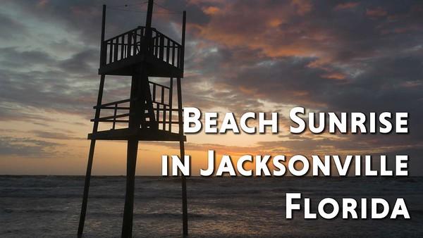 Beach Sunrise in Jacksonville Florida