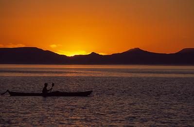 Sunset paddle, Baja, Mexico