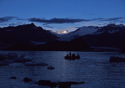 Evening float on Alsek Lake, Alaska