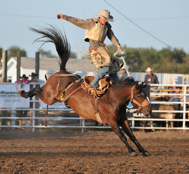 Wrecks 09<br /> Saddle Bronc trick rider...now that's talent.