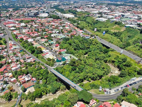 Los Anonos Bridge and Ruta 27 in San Jose, Costa Rica