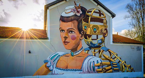 Lisbon Street Art Sunshine Photography By Messagez.com
