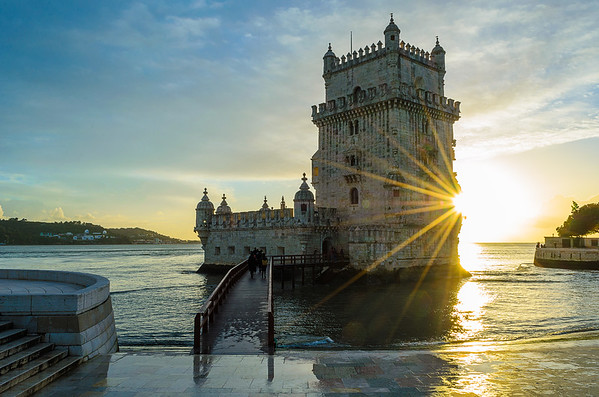 Original Lisbon tower sunshine Art Photography 3 by Messagez com
