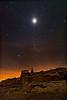 Martian Lunar Eclipse Landscape