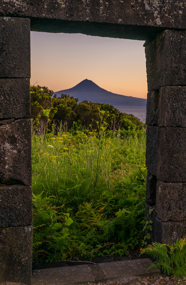 Looking Through to Pico Mountain in Azores Photography By Messagez com