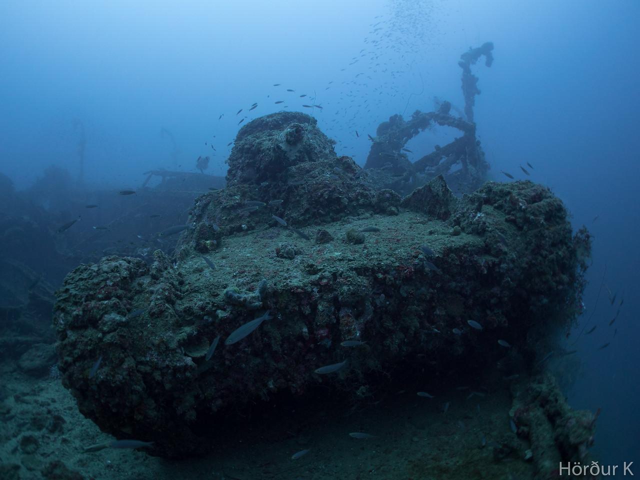 Tank on the San Francisco Maru