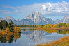 Oxbow bend with fall colors
