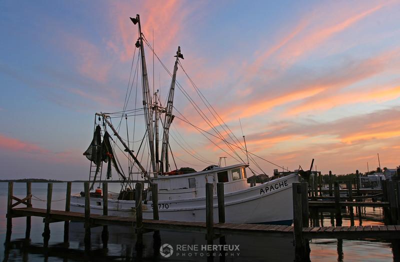Fishing boat at sunrise, Matlacha FL