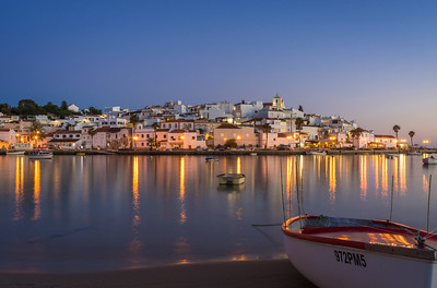 Original Ferragudo Beauty at Night Photography By Messagez com