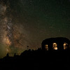 Dee Wright Observatory at night, McKenzie Pass, Oregon