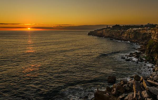 Cascais Coast at Sunset Portugal Image By Messagez.com