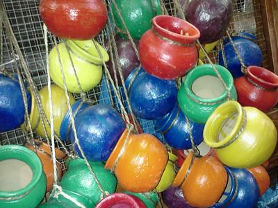 Colorfull Pots, Market in San Antonio, TX