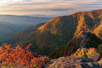 Sunset from Chimney Tops