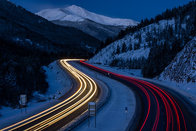 Traffic on I-70, Colorado