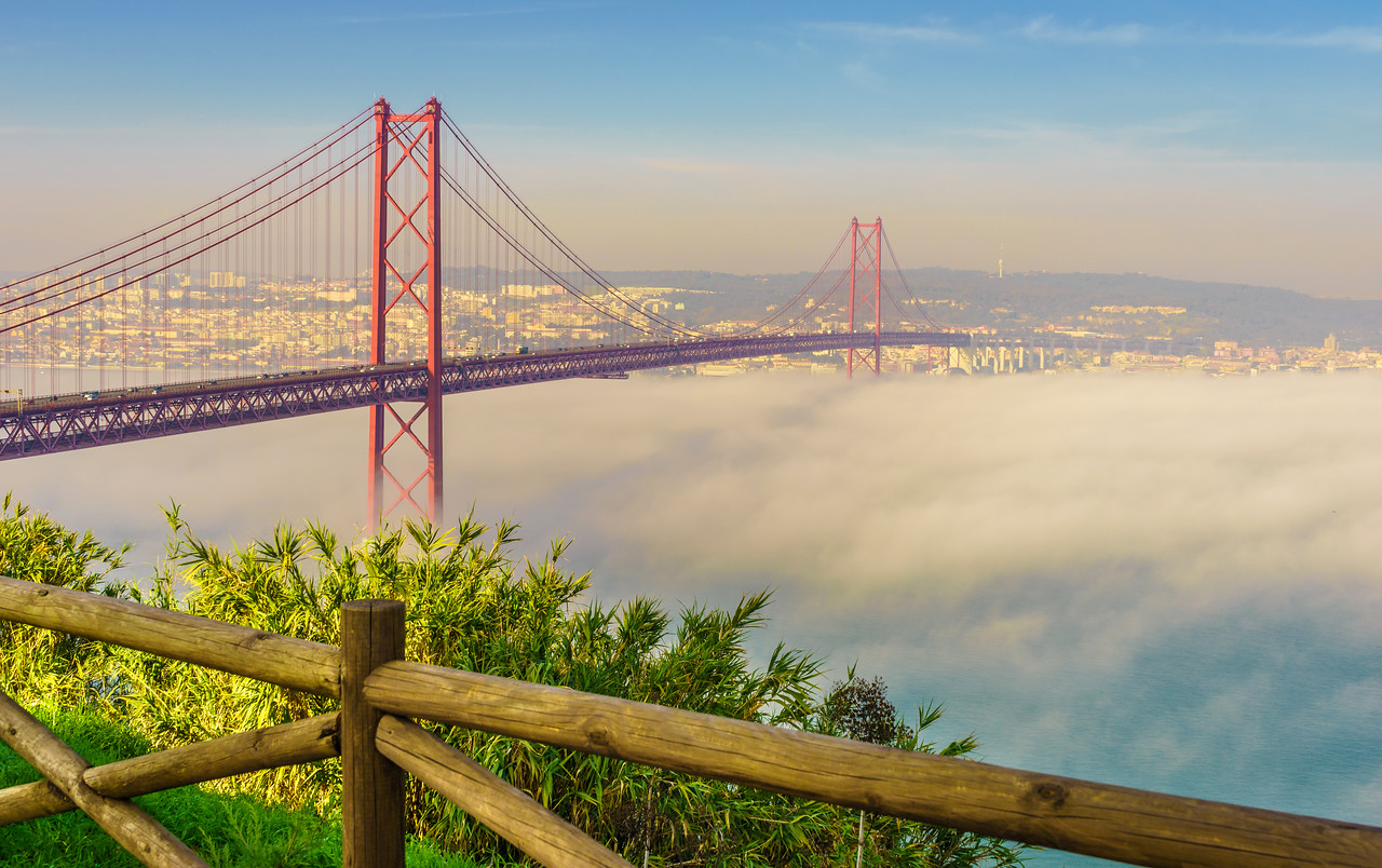 Original Lisbon 25th of April Bridge Landscape Photography 11 By Messagez com