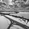 Highway 61 Through the Flood (BW)