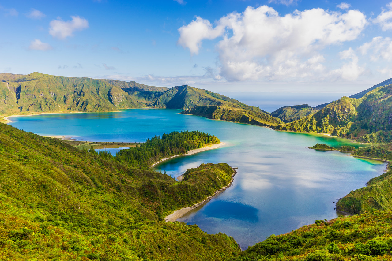 Azores Sao Miguel Island Fire Lagoon Landscape Photography By Messagez com