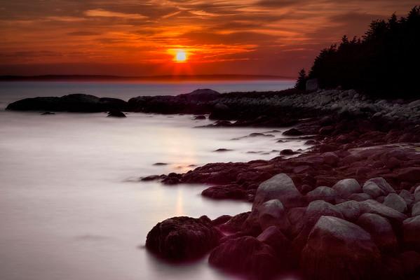 Sunset On Margeret's Bay, Nova Scotia