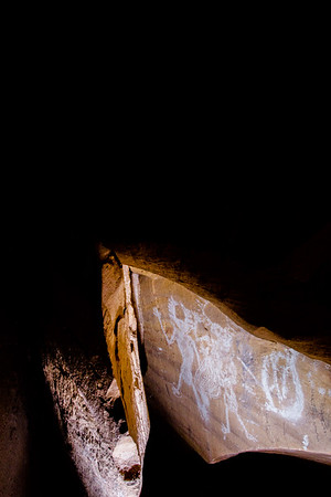 Cave pictographs, Fremont, Nine Mile Canyon, Utah