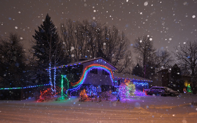 Holiday Snow-bow Globe
