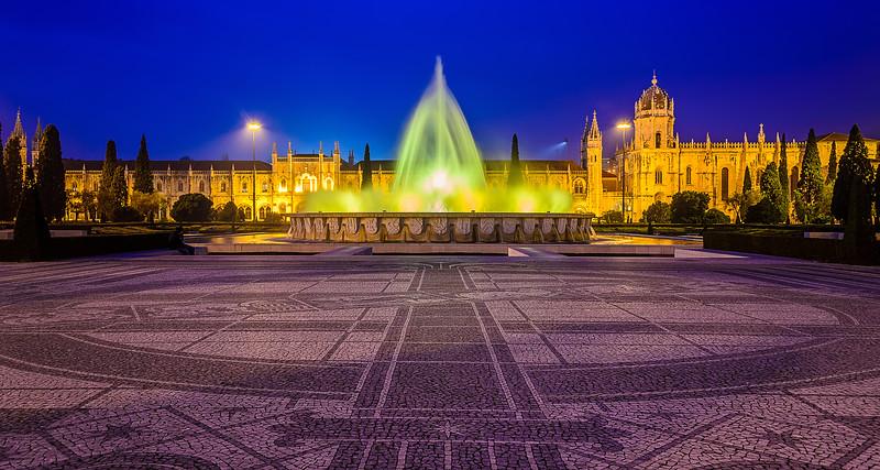 Lisbon Jeronimos Monastery Fountain