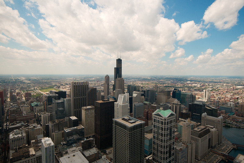 Chicago, viewed from the 85th floor (current top floor as of June 2008) of Trump Tower