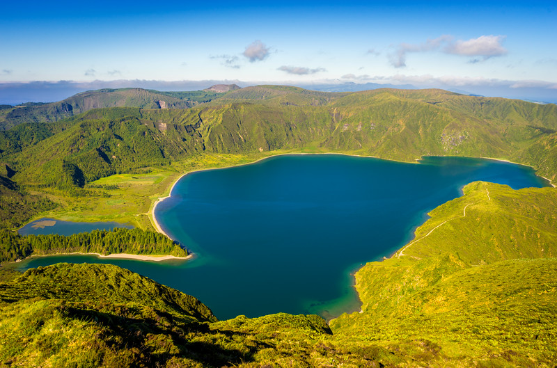 Amazing Fire Lagoon in Sao Miguel Island Azores Photography By Messagez com