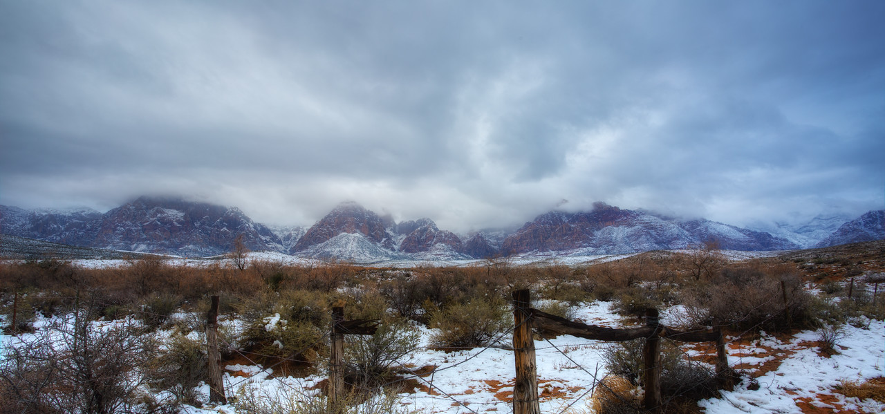 Red Rock Nevada with snow