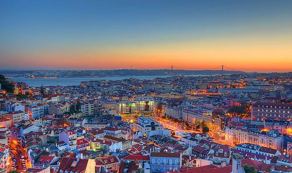 Lisbon Portugal Magic Light Viewpoint