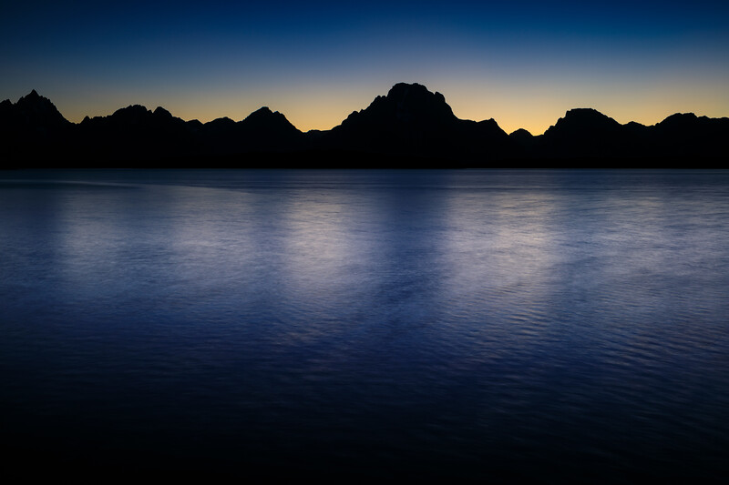 Blue Hour at Mt. Moran