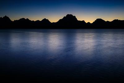 Blue Hour at Mt. Moran