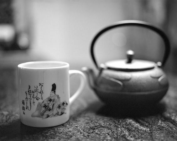 Tea cup and pot