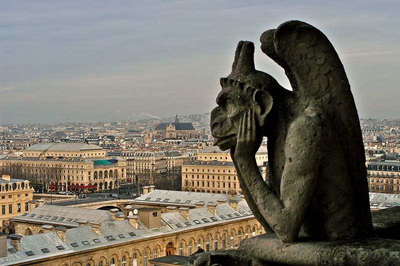 Notre Dame Bored Gargoyle