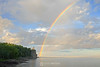 Split Rock Lighthouse and rainbow