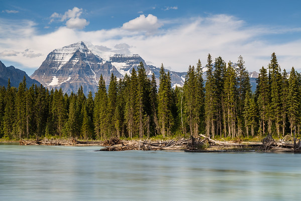 Mount Robson and Fraser River