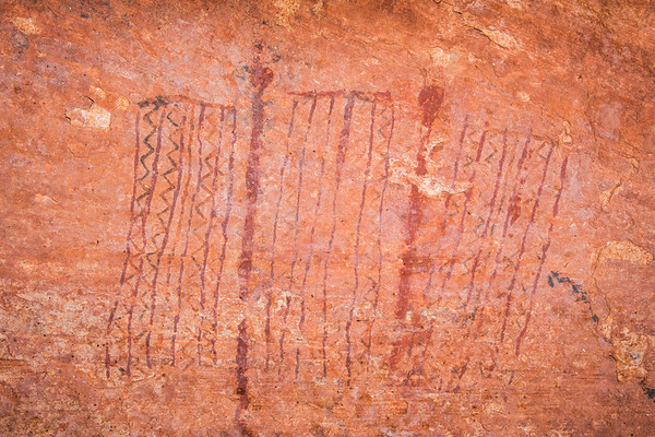 Polychromatic abstract paintings, Desert Archaic, Escalante / Grand Staircase National Monument, Garfield County, Utah