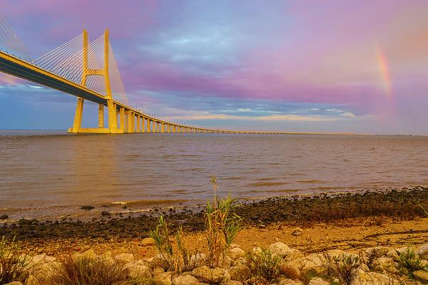 Original Lisbon Portugal Bridge Rainbow Art Photography 40 By Messagez com