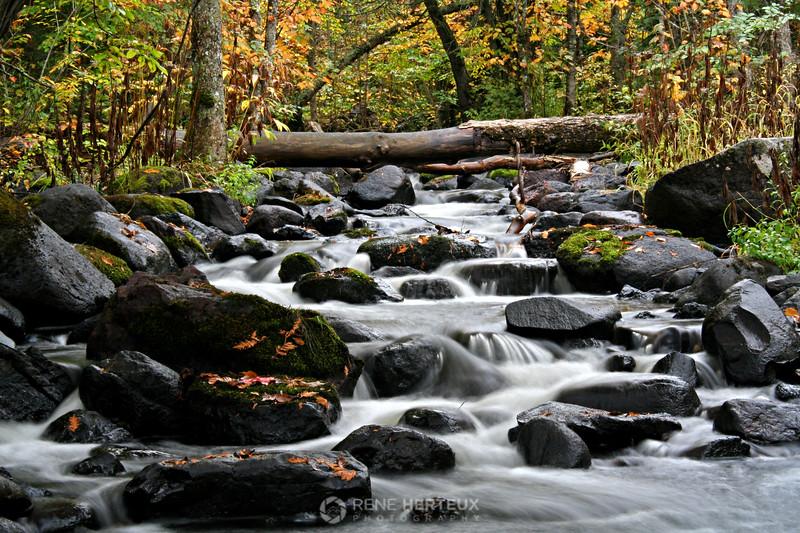 Fall waterfall, Lutsen MN