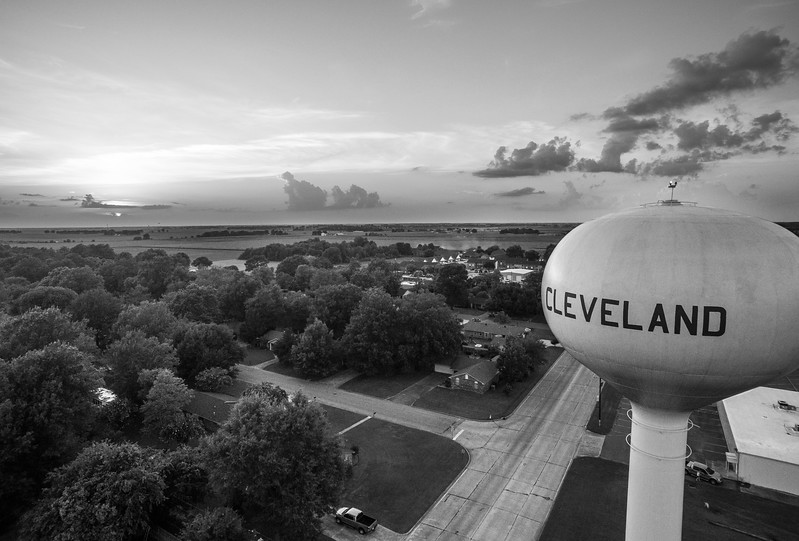 Cleveland Sunset (BW)