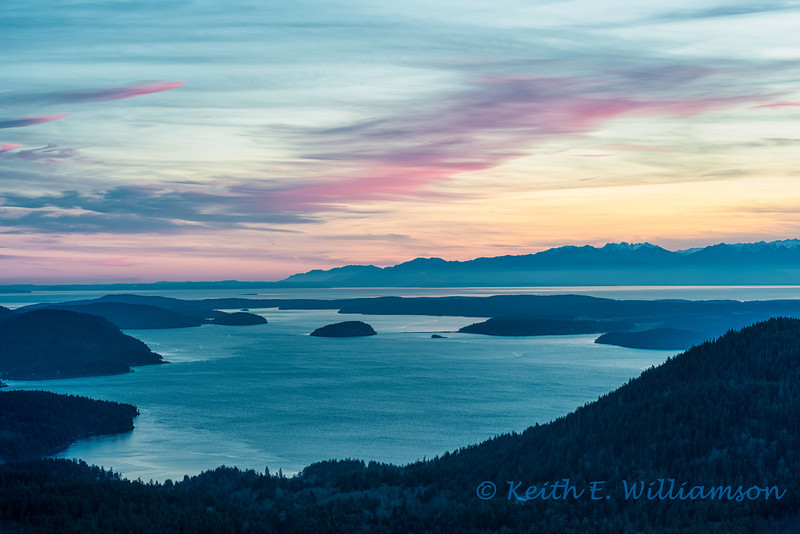 Looking south from Mount Constitution, Orcas Island
