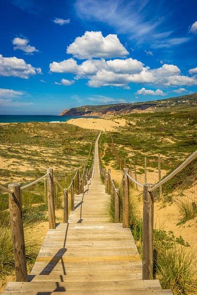 Cascais Beach Pathway Photography By Messagez com