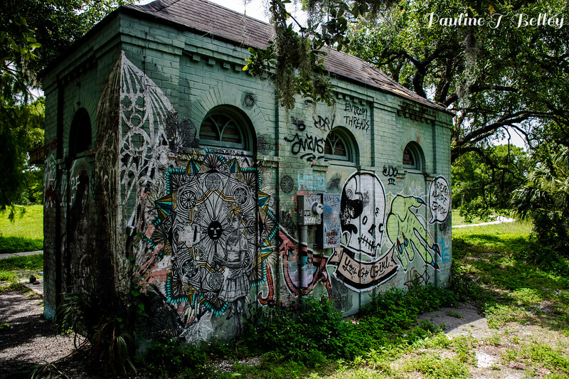 Graffiti Building Post