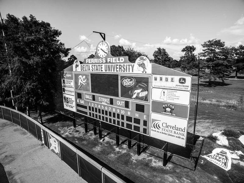 Ferris Field Scoreboard (BW)