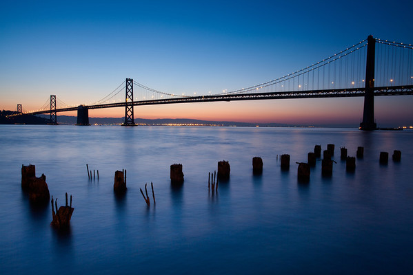 Bay Bridge at Blue Hour