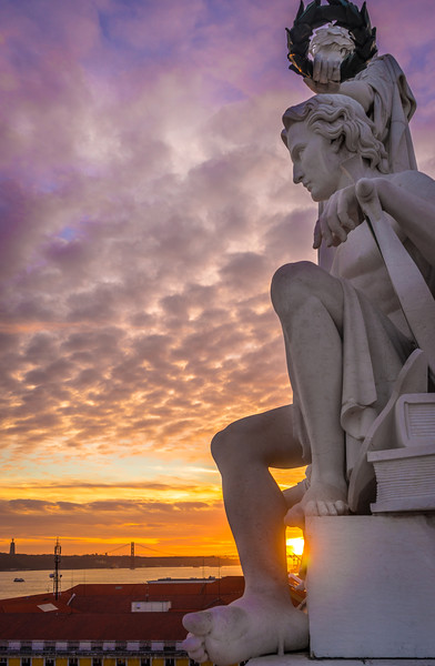 Lisbon Triumphal Arch Viewpoint Sunset Photography 5 By Messagez com