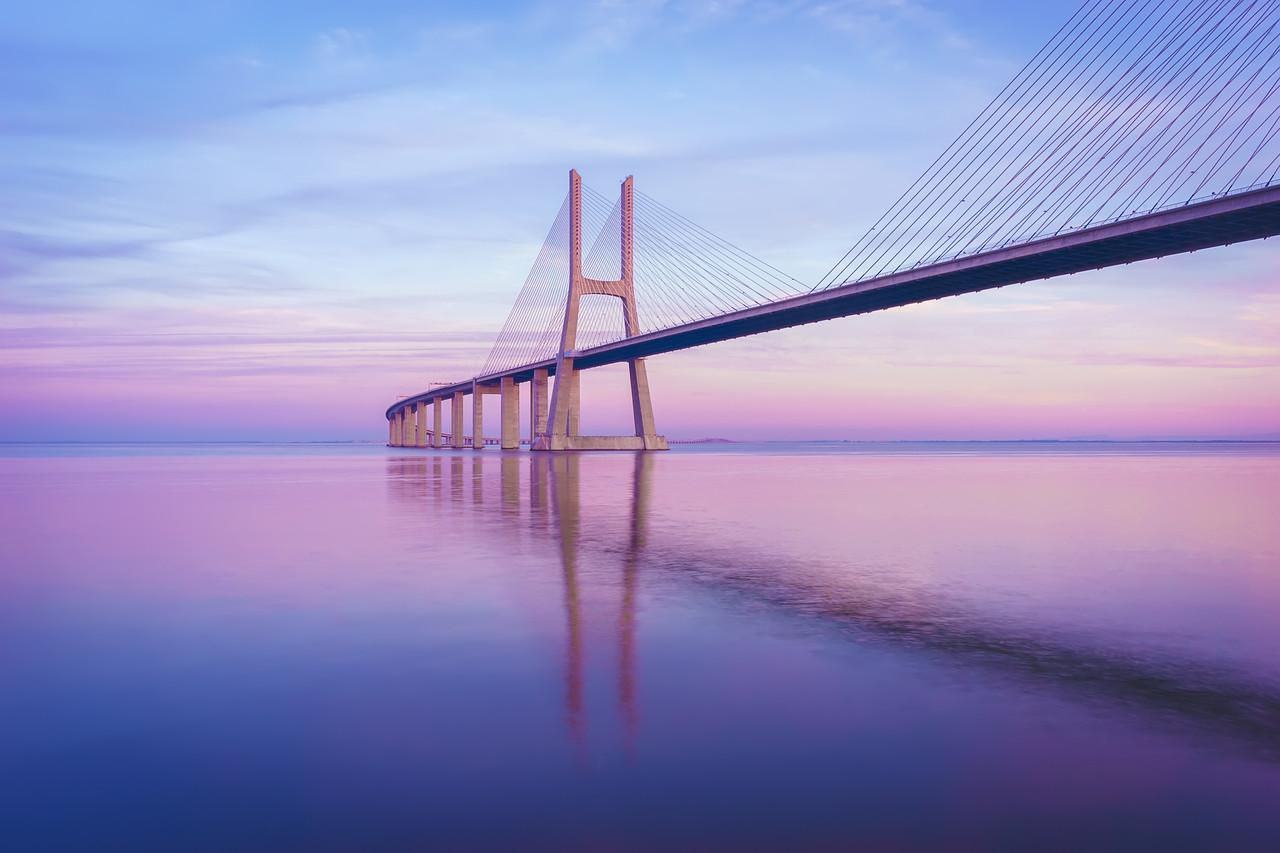 Lisbon Bridge Harmony Reflection Photography By Messagez com
